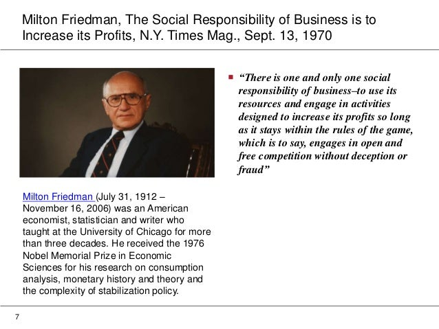 milton friedman profit for shareholders
