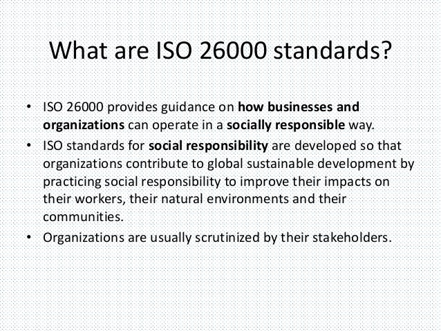 what is iso 26000 social responsibility