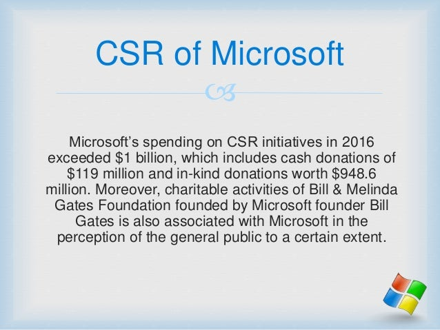 csr of microsoft Reputation institute has released its annual global csr reptrak® 100, which highlights the companies that have the best reputations for corporate social.