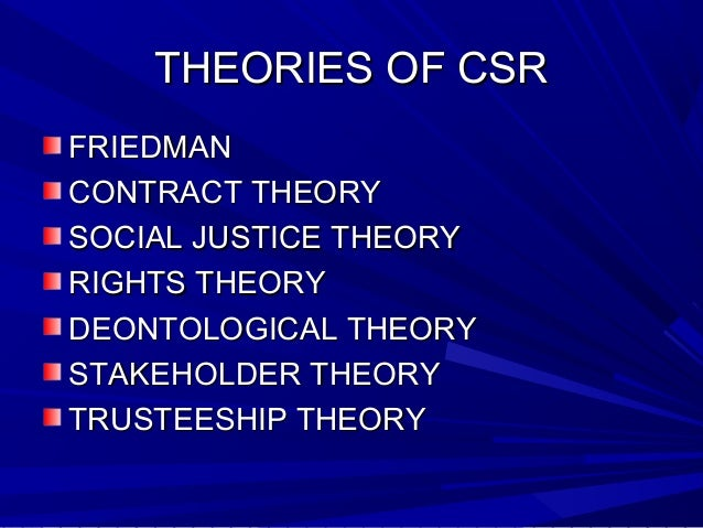 hypothesis of csr Sustainability and corporate social responsibility (csr) so any business model who focuses on addressing social and/or environmental externalities is in my view would be a csr model but they are based on csr theory.
