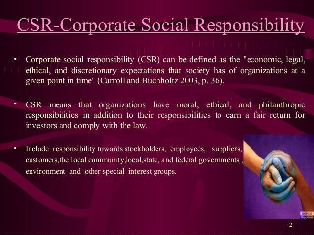 Corporate social responsibility-vivek shekhar gaur Slide 2