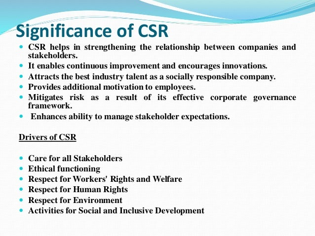 Csr activities of indian companies ppt.
