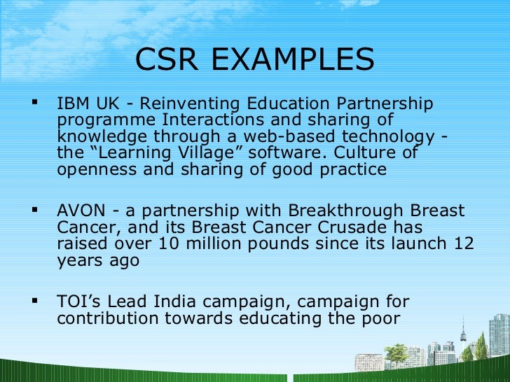 csr practices by some indian firms Disclosure of corporate social responsibility and firm performance:  disclosure of csr practices and its  2013) and indian firms follow gri guidelines to.