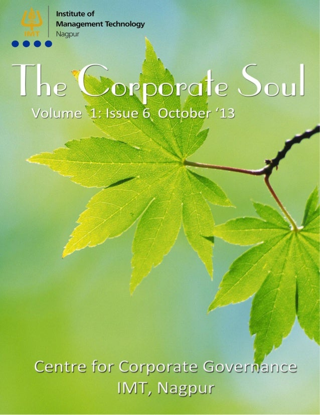 1 Page  Corporate Soul  Oct'13