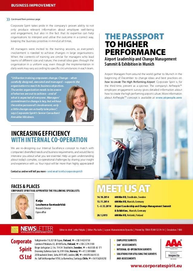 Corporate Spirit Newsletter 3 2014