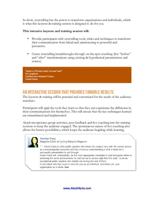 Corporate Storytelling Workshop: Public Speaking Courses for Storytelling in Business Slide 2
