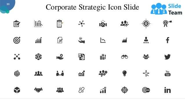 Corporate Strategic Icon Slide 33