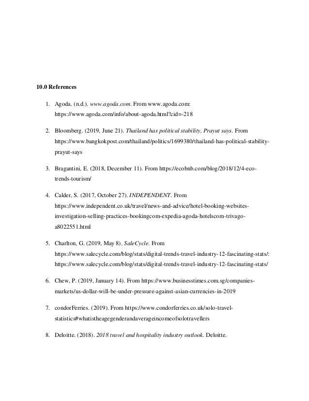 10.0 References 1. Agoda. (n.d.). www.agoda.com. From www.agoda.com: https://www.agoda.com/info/about-agoda.html?cid=-218 ...