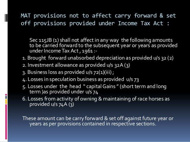 how to carry forward tax loss