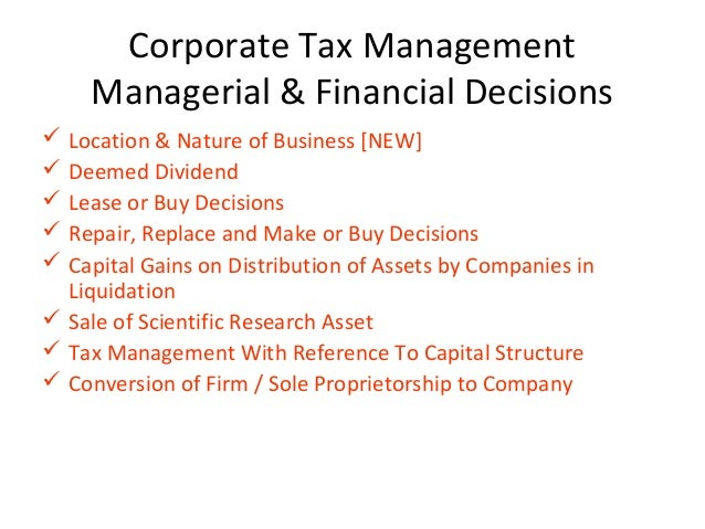 tax planning for corporate liquidation Tax planning and strategies for mergers & acquisitions july 26, 2007 offices of mayer, brown, rowe & maw llp  trade or business in the country in which the sale .