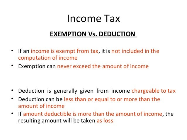 exemptions on taxes meaning