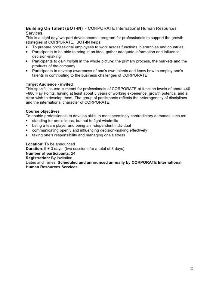 corporate training and development catalog