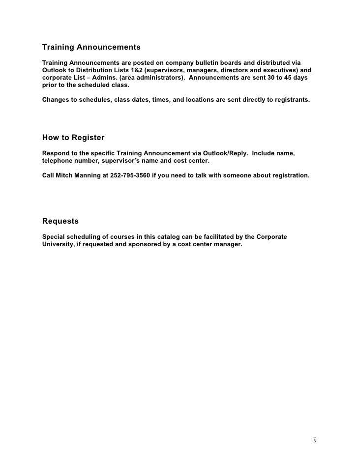 Training announcement template juvecenitdelacabrera corporate training and development catalog stopboris Gallery