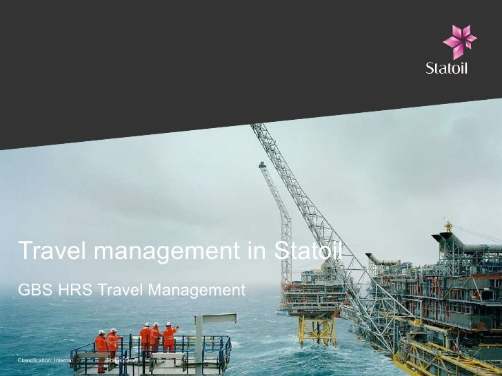 Travel management in Statoil GBS HRS Travel Management
