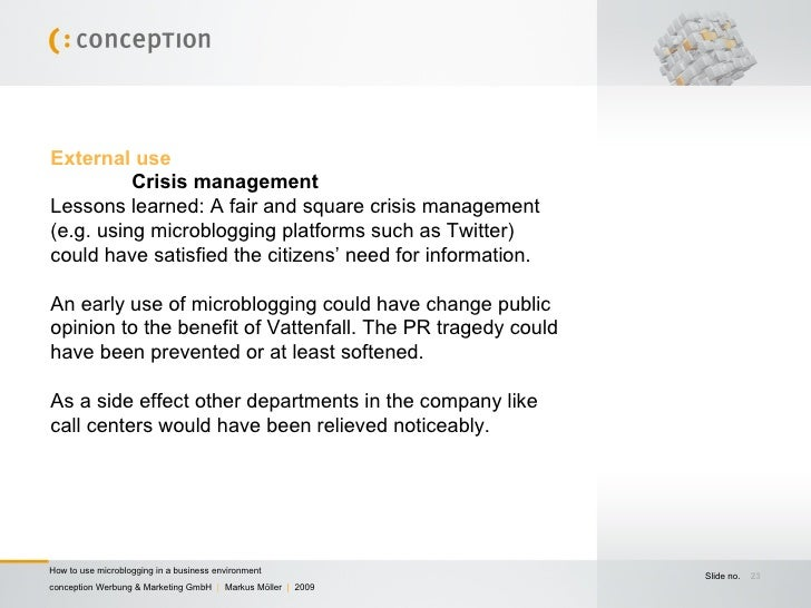 Corporate Microblogging - How to use microblogging in a ...
