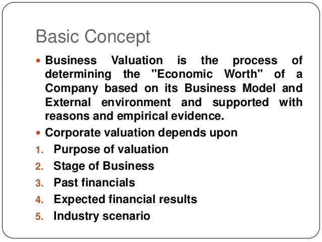 concepts of business valuation critical 1 overview of business and intangible asset valuation a introduction - role of intangible assets b valuation theory - income approach c intangible asset valuation d important concepts e discount rates 2 gaming industry overview and valuation insights a industry overview b public companies c transaction activity d.