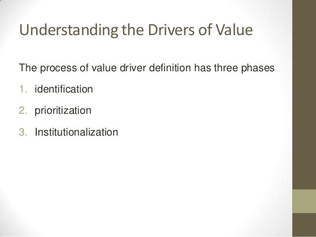 what does value drivers mean