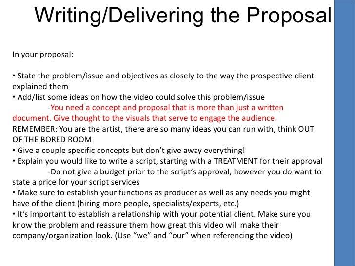 Corporate video propsals presentation