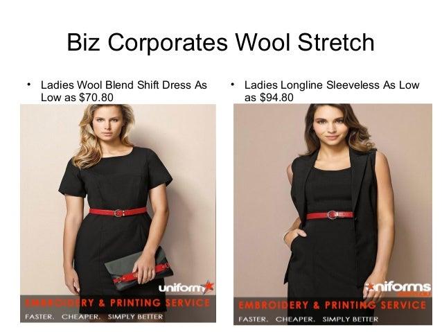 defc2156cb7c7 Biz Corporates Wool Stretch  Ladies Wool Blend Shift Dress As ...