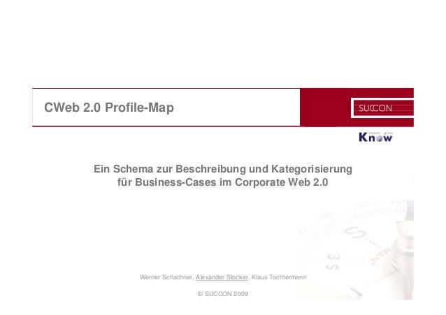 © SUCCON 2009 CWeb 2.0 Profile-Map Ein Schema zur Beschreibung und Kategorisierung für Business-Cases im Corporate Web 2.0...