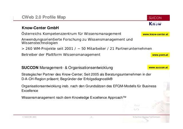 CWeb 2.0 Profile-Map: Ein Schema zur Beschreibung und Kategorisierung  für Business-Cases im Corporate Web 2.0 Slide 2