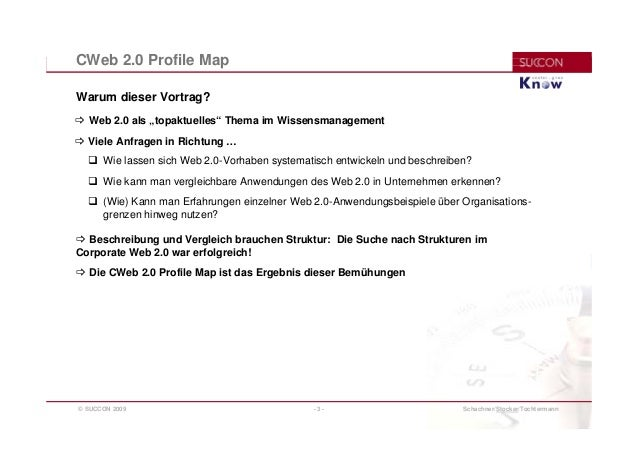 CWeb 2.0 Profile-Map: Ein Schema zur Beschreibung und Kategorisierung  für Business-Cases im Corporate Web 2.0 Slide 3
