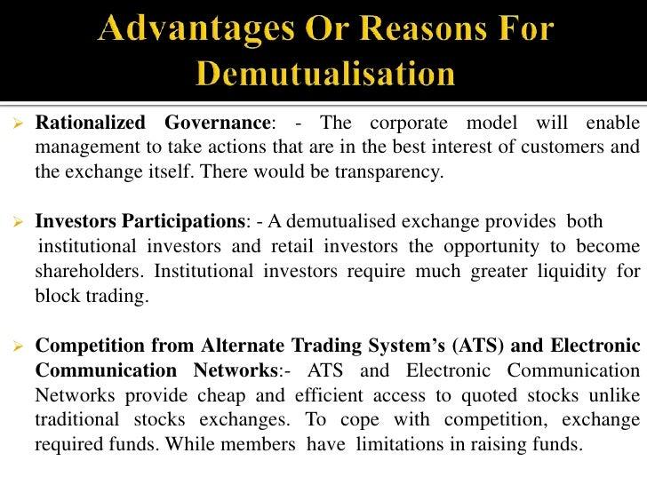 NSE is a company formed under section 12 of the Companies Act, 1956 with a profit motive.</li></li></ul><li>Mutual Structu...