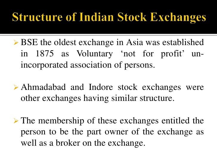Mutual Structure of Indian Stock Exchange