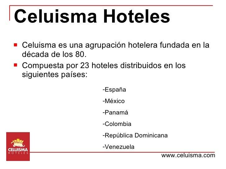 Presentación corporativa Celuisma Hoteles Slide 2