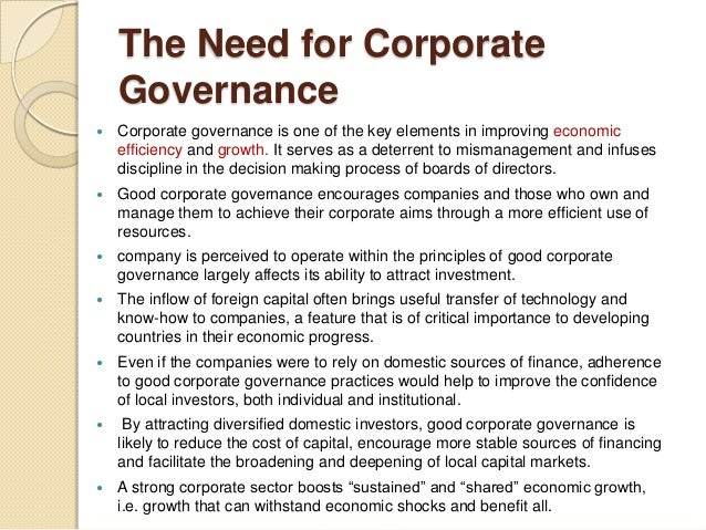 corporate governance on the capital investment decision Environmental social governance (esg) ethical responsible investing we are  committed to making responsible investment decisions that benefit our clients   and social impacts, the quality of its corporate governance and overall success.