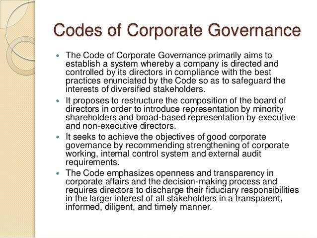 class notes on corporate governance Course information corporate governance and control short course this  course  note: corporations or corporations & business entities is  recommended.