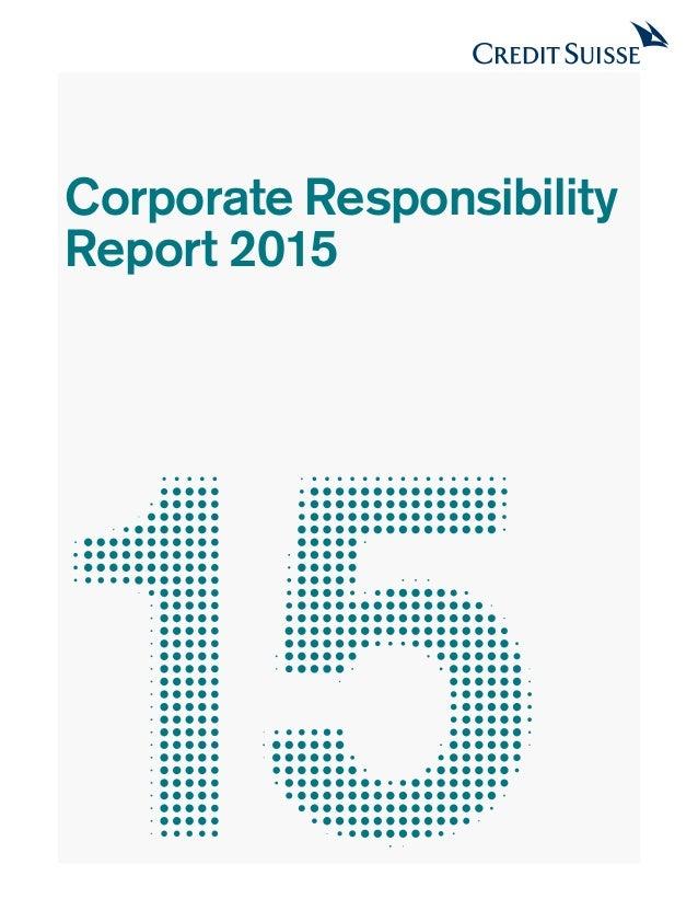 Corporate Responsibility Report 2015