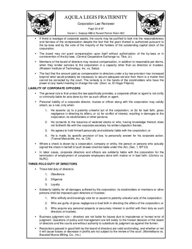 corporation code of the philippines The corporation code of the philippines  under the corporation code, a non-stock corporation may be formed or organized for charitable, religious,.