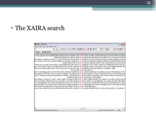 32  • The XAIRA search