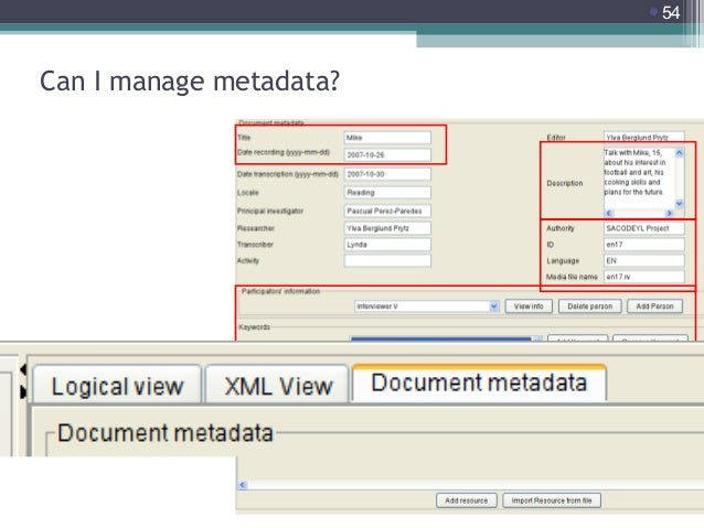 54  Can I manage metadata?