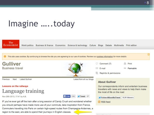 8  Imagine …..today