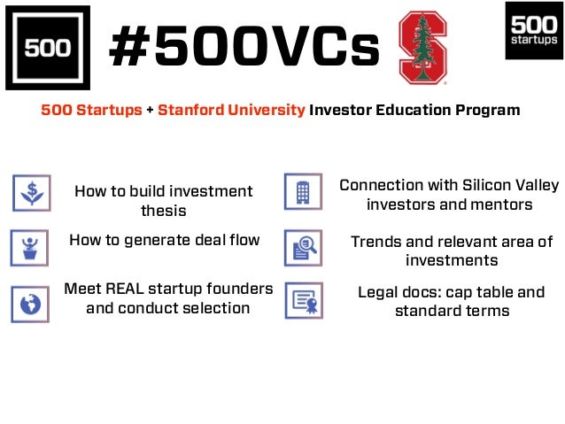 How to build investment thesis Meet REAL startup founders and conduct selection Connection with Silicon Valley investors a...
