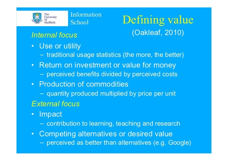 Choosing business tools to demonstrate library value Slide 3