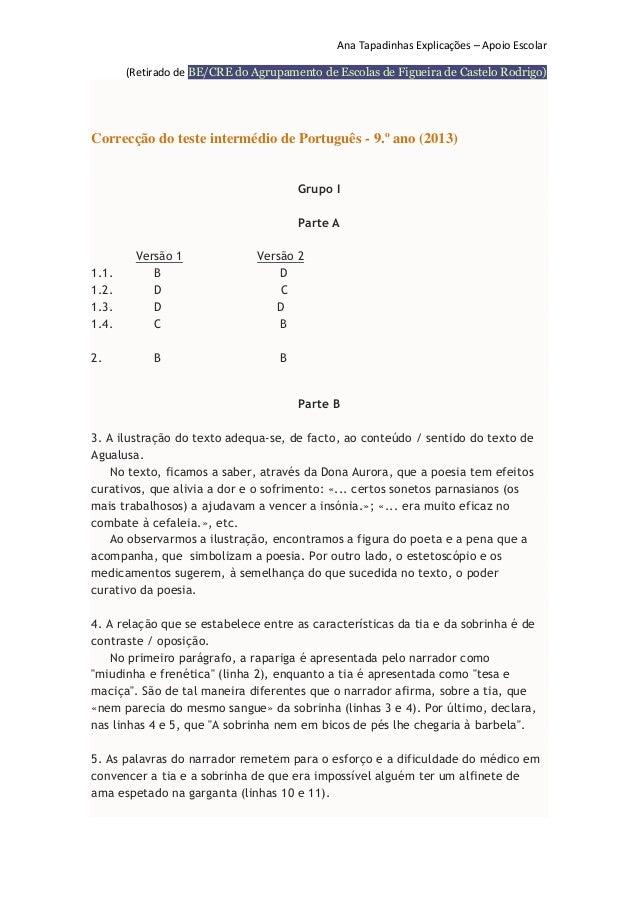 Ana Tapadinhas Explicações – Apoio Escolar (Retirado de BE/CRE do Agrupamento de Escolas de Figueira de Castelo Rodrigo)  ...