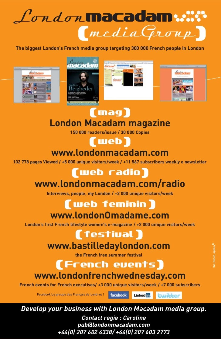 Londonmacadam vxp                                     ( mediaGroup) The biggest London's French media group targeting 300 ...