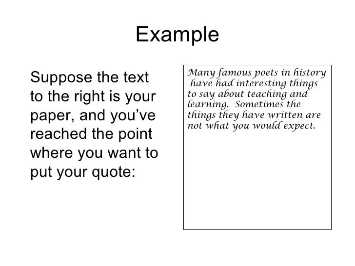 How do you do a long quote in an essay