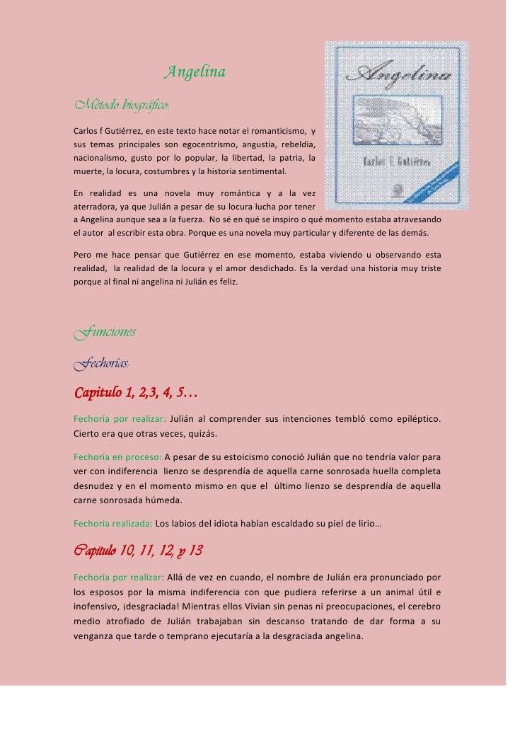 3687445-293370Angelina <br />Método biográfico:<br />Carlos f Gutiérrez, en este texto hace notar el romanticismo,  y sus ...