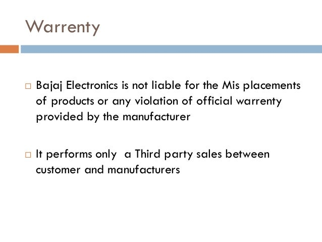 Retail Electronic store management