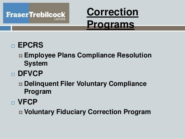 Correcting Mistakes In Retirement Plan Administration
