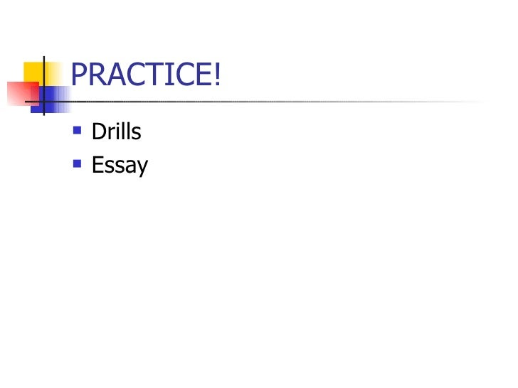 correcting mistakes esl <ul><li>drills < li>< ul><ul><li>essay < li>< ul>
