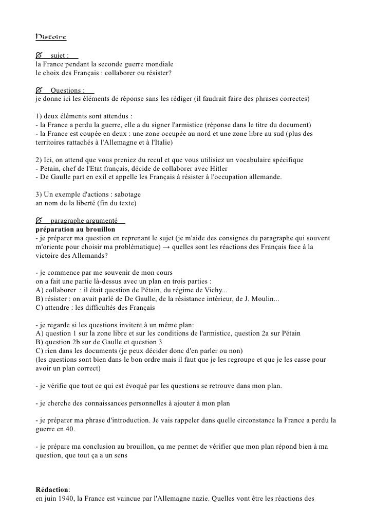 devoir francais seconde