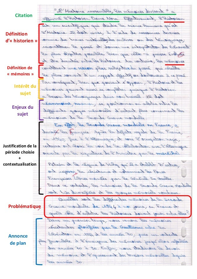 Définition d'« historien » Citation Définition de « mémoires » Intérêt du sujet Enjeux du sujet Justification de la périod...