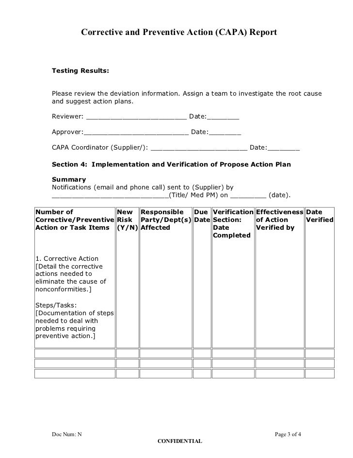 how to write a corrective action plan letter
