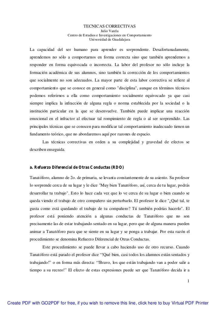 TECNICAS CORRECTIVAS                                                        Julio Varela                                  ...