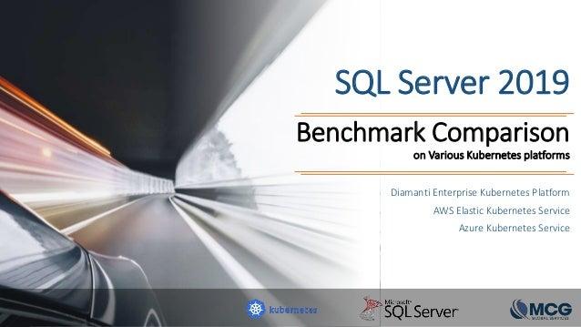 SQL Server 2019 Benchmark Comparison on Various Kubernetes platforms Diamanti Enterprise Kubernetes Platform AWS Elastic K...